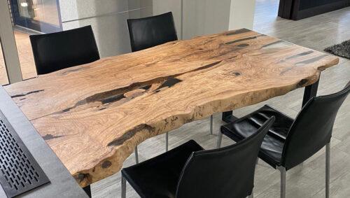 Olijfhouten epoxy tafel iqonya